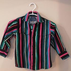 Kids Vintage Wrangler Button Down Shirt